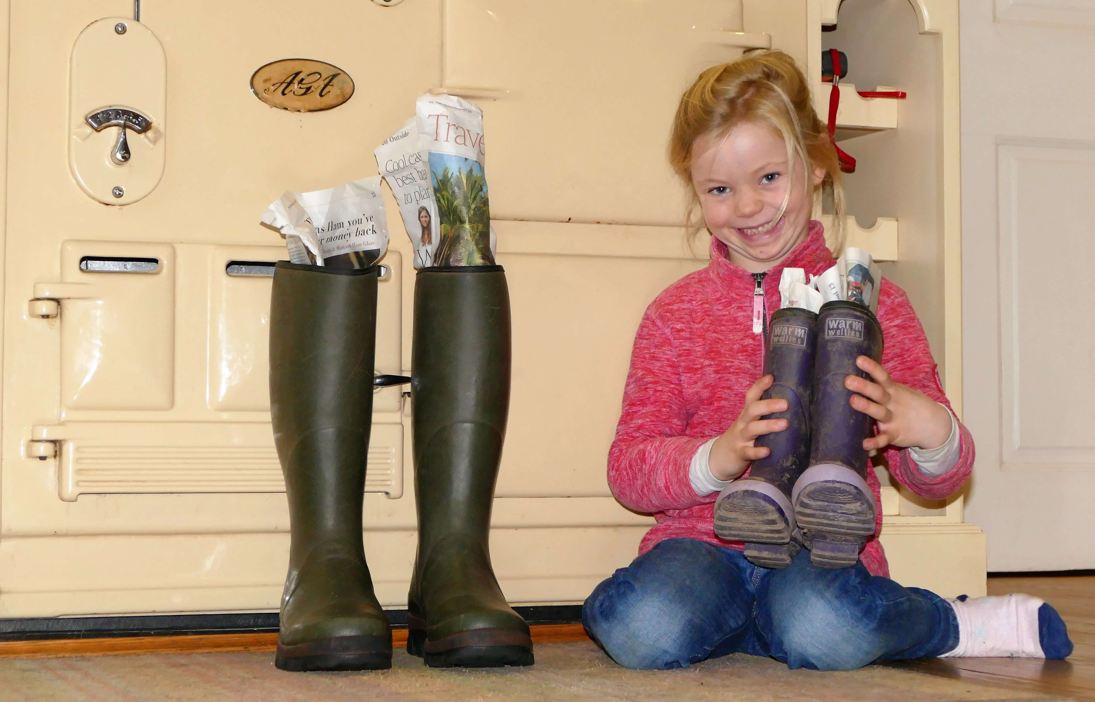 ​How to dry out your wet wellies